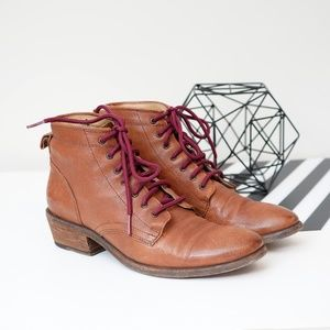 Frye Carson Lace Up Ankle Boots